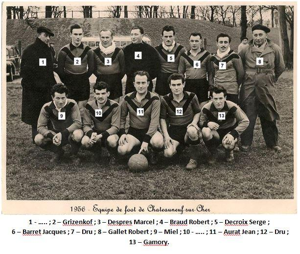 54 1956 equipe de foot chateauneuf