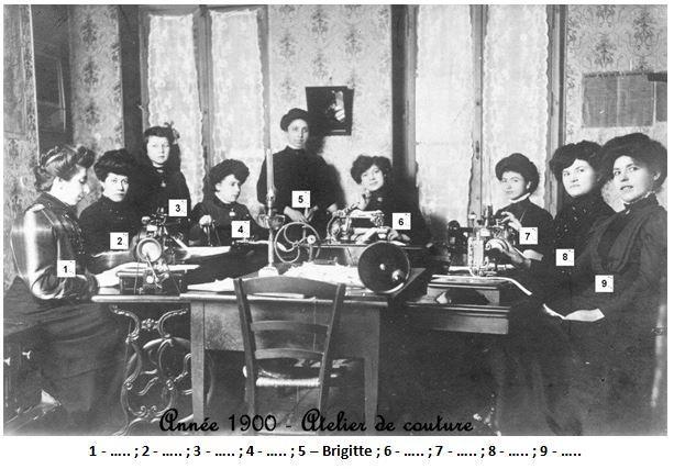 N 32 1900 atelier de couture